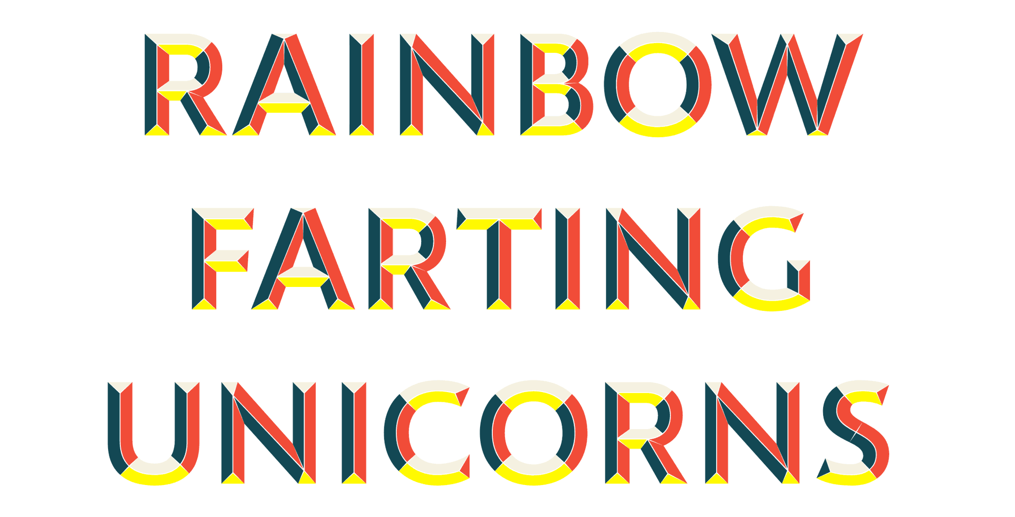 Generated color fonts with predifined colors.