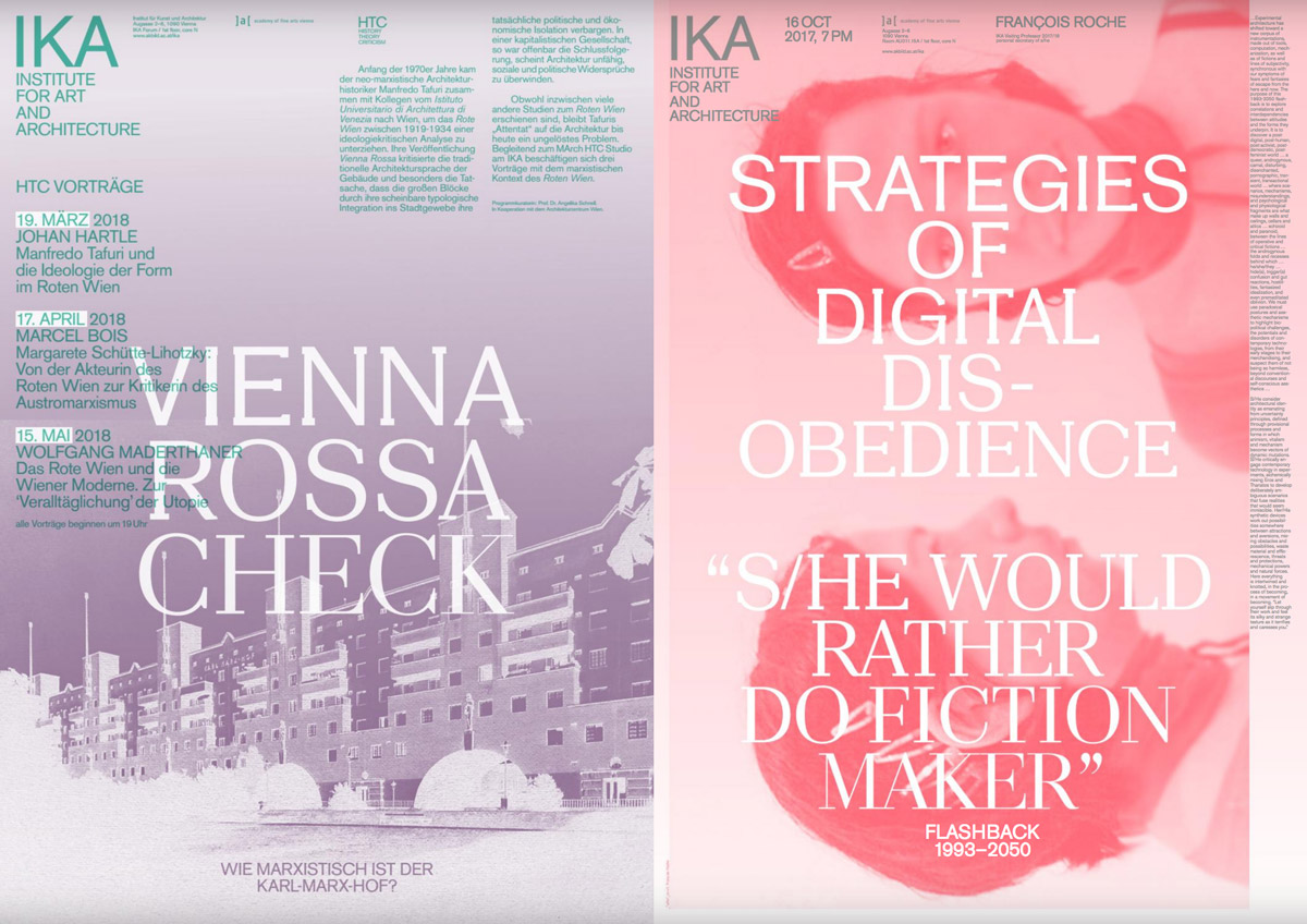 Sample printed matter of the IKA